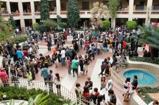Visão geral de uma das praças do Colégio Marista