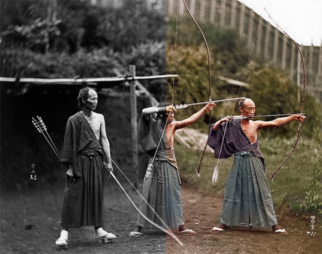 Japanese Archers BW2Colorized